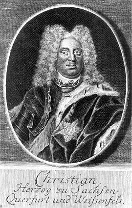 Christian, Sachsen-Weißenfels, Prinz