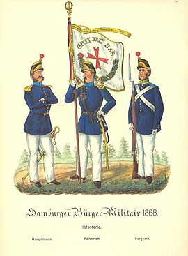 Hamburg. Bürger-Militär