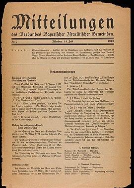 Verband Bayerischer Israelitischer Gemeinden