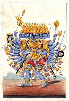 Rāvaṇa, Fiktive Gestalt